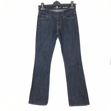 """7 FOR ALL MANKIND Women's Size 25 Bootcut Dark Blue Casual Jeans Inside Leg 31"""""""