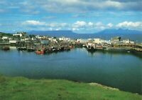 Scotland Postcard, Mallaig Harbour looking toward Rhum and Eigg KA1