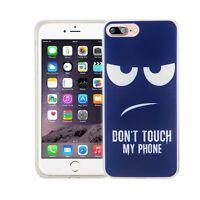 Téléphone Housse Pour Apple IPHONE 7 Plus Don'T Touch Blau Étui Coque Motif TPU
