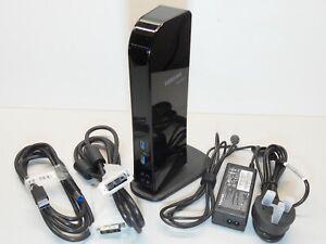 Toshiba Dynadock Universal USB3 Docking PA3927E-3PRP PSU + CABLES