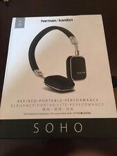 Harman Kardon Soho Plegable Sobre la Oreja Auriculares-Negro Mini de cuero para iOS