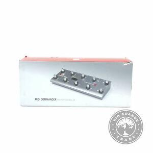 OPEN BOX MeloAudio 6971696250106 MIDI Commander USB Foot Controller in Silver