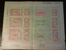 1892 Map of Nw Dc- Judiciary Square - Rare large property specific detail