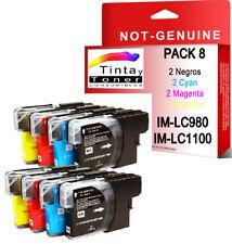 8 Cartuchos Tinta Impresora Compatible NonOem Brother DCP-195C DCP-197C LC980