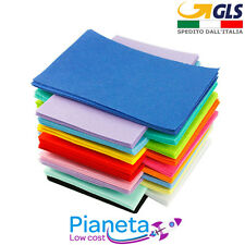 2PZ 40x60 cm Pannolenci Panno lana Lenci feltro colorato spessore 1 mm