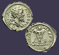 Archaios | Roman Denarius Septimius Severus Parthian Captives & Trophy | Inv25.4
