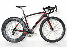 STRADALLI CAMPAGNOLO CAMPY SUPER RECORD FULL CARBON BICYCLE BIKE 11 SPEED 56 LG