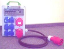 Stromverteiler,Adapter 32A auf 2x CEE 16A,6x230V und  Fi -Schalter