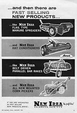 1962 Dealer Print Ad of New Idea Manure Spreader Hay Conditioner Bar Rake Picker