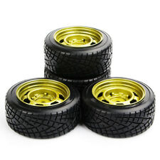 4Pcs 12mm Hex Flat Racing Tire Wheel Rims For HSP HPI RC 1:10 On Road Drift Car