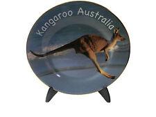 "Australian Souvenir 7.5"" Display Plate with Stand Kangaroo Australia"