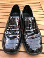 Rieker Size 36 3 UK antistress Ladies Loafer Shoes Burgundy Brown Crocodile