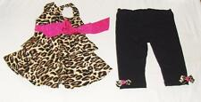 NEW  VINTAGE COUTURE TANK TOP+PANT OUTFIT-24m BABY GIRL-LEOPARD PRINT SET-SUMMER