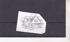 Letterpress Printing Block 'Rubber' unmounted  'Country Cottage'