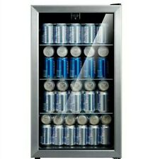 EMERSON 115 Can Beverage BEER SODA Cooler Stainless Steel MINI FRIDGE SUMMER