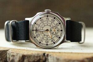 Men's Wristwatch Pobeda Pilot Wings LACO Mechanical  Soviet USSR MILITARY ZIM