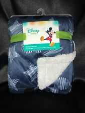 Disney Baby Mickey Mouse Navy Blanket Stars Sherpa New With Tags