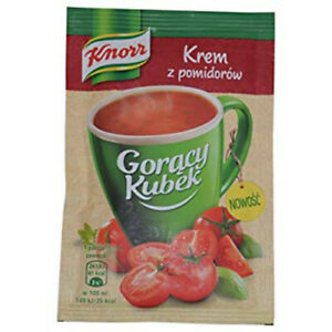 Knorr Goracy Kubek Krem z Pomidorow Creme of Tomatoes Soup Mix 18g Bag (5-Pack)
