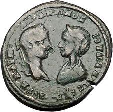 ELAGABALUS and JULIA MAESA 218AD Marcianopolis Dikaiosyne Roman Coin   i50905