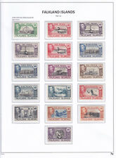 Falkland Islands. 1938. SG 146s-163s, 1/2d to £1. Specimens. Complete set.