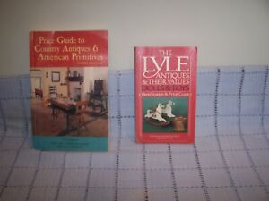 2 Vintage Price Guide Books for Identifying Collectables and Antiques