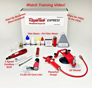 RapidTech EXPRESS Auto Glass Windshield Windscreen Rock Chip Resin Repair Kit