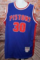 2004 Rasheed Wallace #30 Pistons Mens XL Mitchell & Ness Jersey Blue