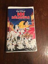 Disney Los Clasicos 101 Dálmatas VHS Spanish Español Play Tested 101 Dalmatians