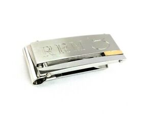 Dolan Bullock Money Clip Stainless Steel 18k Gold Engraved Initials RRM ♉︎