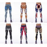 3D Print Women Football Team Leggings Gym Jogging Yoga Pants Fitness Trousers