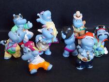 Lot série complète Kinder 9 Happy Hippo Casting Hippos DE Allemagne 2009 +1 BPZ