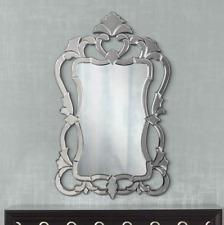 Horchow VENETIAN ORNATE Frameless Wall Vanity Mirror French Farmhouse New