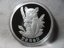 Korea 2007, Glasses Monkey 1500 Won, 40mm, 1oz Silver Proof
