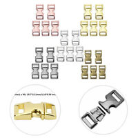 5x Side Release Buckles Clips Heavy Duty Metal Press Button for Webbing Paracord