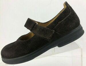 Birkenstock Mary Jane Footprints Brown Suede Comfort Casual Flats Women 36 5.5/6