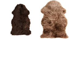 *New* SKOLD Sheep Skin. Beige & Dark Brown 90 cm *Brand IKEA*