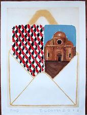 "JOE TILSON ""PC from Venice i Carmini"" ACQUAFORTE ACQUATINTA 56X76"