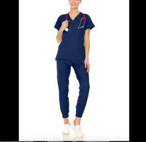 Mini Marilyn Jogger  Medical Scrub Set Navy XXS-XL New with Tag
