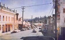 GRASS VALLEY CA Main Street Scene California Vintage Postcard ca 1950s
