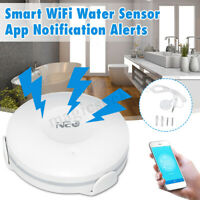 NEO Smart WiFi Water/Flood Sensor Alarm APP Leak Detector Alert No Hub Required