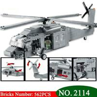 Military Series Plane Aircraft Building Blocks Black Hawk Airplane Model Sets