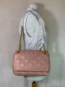 NWT Tory Burch Pink Moon Soft Fleming Convertible Shoulder Bag $528