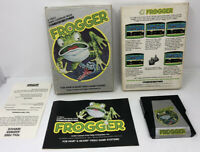 Frogger Atari 2600 Complete In Box CIB Manual Insert Video Game