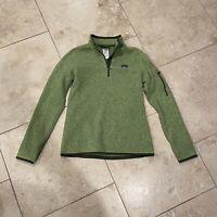 PATAGONIA Long Sleeve Womens 1/4 Zip SWEATER Sweatshirt Jacket Green Med. EUC