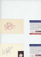 ELTON JOHN & KIKI DEE PSA Signed VINTAGE Autograph 3x5 Index Cards (2) CARDS