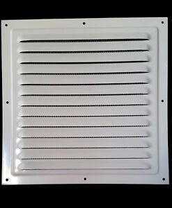 125x125mm METAL Lüftungsgitter Weiß +INSEKTENNETZ Ventilation Gitter Entlüftung