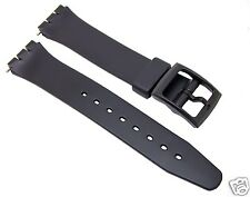 12 mm Black Standard Swatch Replacement Band/Strap/Free Shipping Worldwide