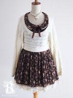 🌹LIZ LISA🌹Layered Sweater Dress Floral Brown Hime Lolita Japanese Fashion E660