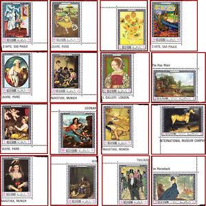 Ras al Khaima 1968 Art, FAMOUS paintings, Mi 229-244 rare set ** MNH