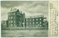 Postcard Paterson NJ Street View General Hospital New Jersey Black White 1900's